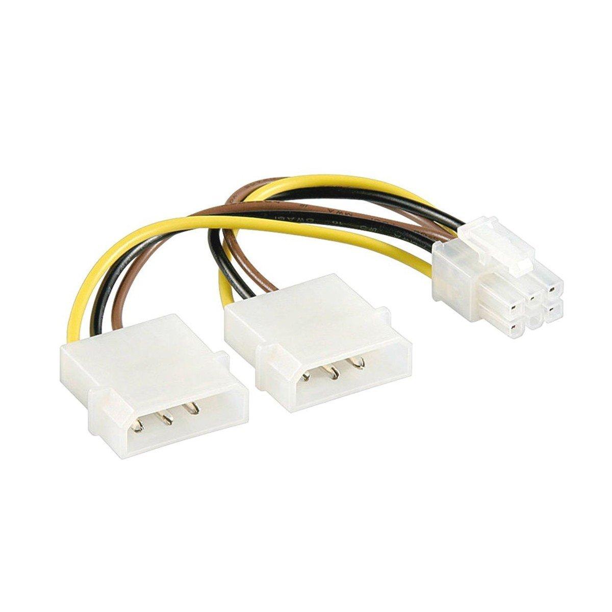 6 pin PCIe PCI-E Adaptador Tarjeta gráfica Cable de ...