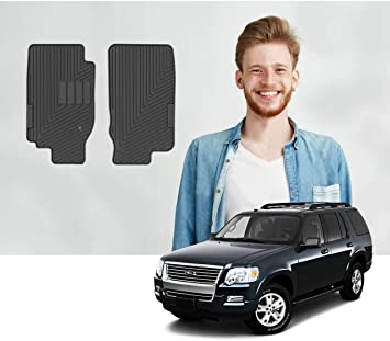 Amazon Com Custom Fit Ford Explorer 2002 2003 2004 2005 2006 2007 2008 2009 2010 Car Floor Mats Odorless Thick And Heavy Duty Material Engineered To Protect The Floor Front Row Only 2pcs Black Automotive