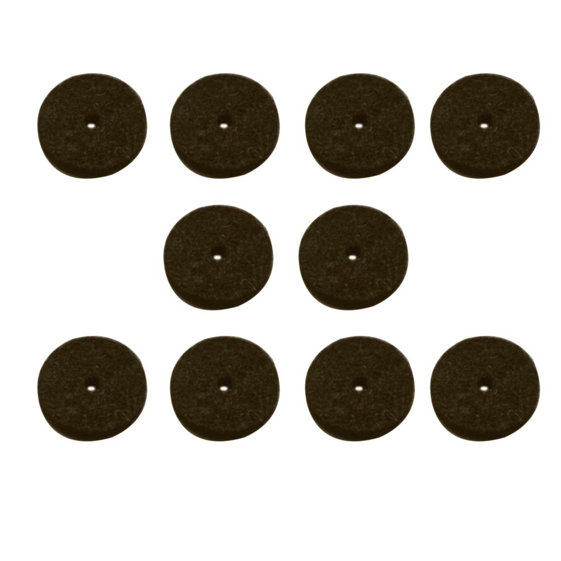 Strap Button Felt Washers, Black, Package of 10