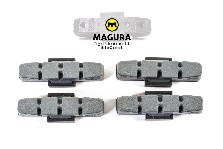 4 x Original Magura Bremsbeläge für HS 11 HS 33 66 22 24 grau Bremsklötze Belag