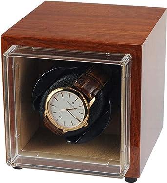QLL Vitrina Movimiento Relojes 1+0, Pintura Madera, Cargador para Relojes Automáticos, 4 Modos de Rotación Caja Giratoria para Reloj (Color : Brown): Amazon.es: Relojes
