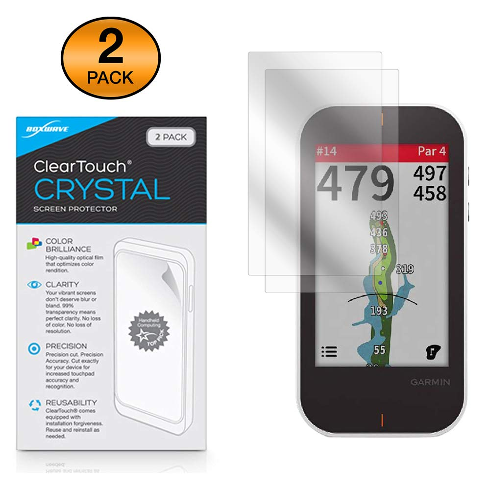 BoxWave Garmin Approach G80 Screen Protector, ClearTouch Crystal HD Film Skin Shields from Scratches for Garmin Approach G80 2-Pack