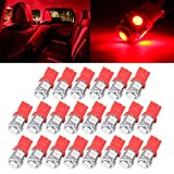 2006 audi a4 center console - CCIYU 20 Pack T10 5-5050-SMD Red LED Bulbs 168 184 for Clearance Cab Marker Light lamps Fit 2001 GMC Savana 1500 2500 3500 Sierra 1500 2500 3500 Sierra 1500 HD 2500 HD