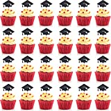 Hestya Total 30 Pieces Graduation Cake Topper Cupcakes Cap Decoration,...