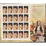 Judy Garland, Legends of Hollywood, 20 x 39 Cent Stamps, USA 2006, Scott 4077