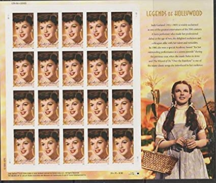 Judy Garland Legends Of Hollywood 20 X 39 Cent Stamps USA 2006