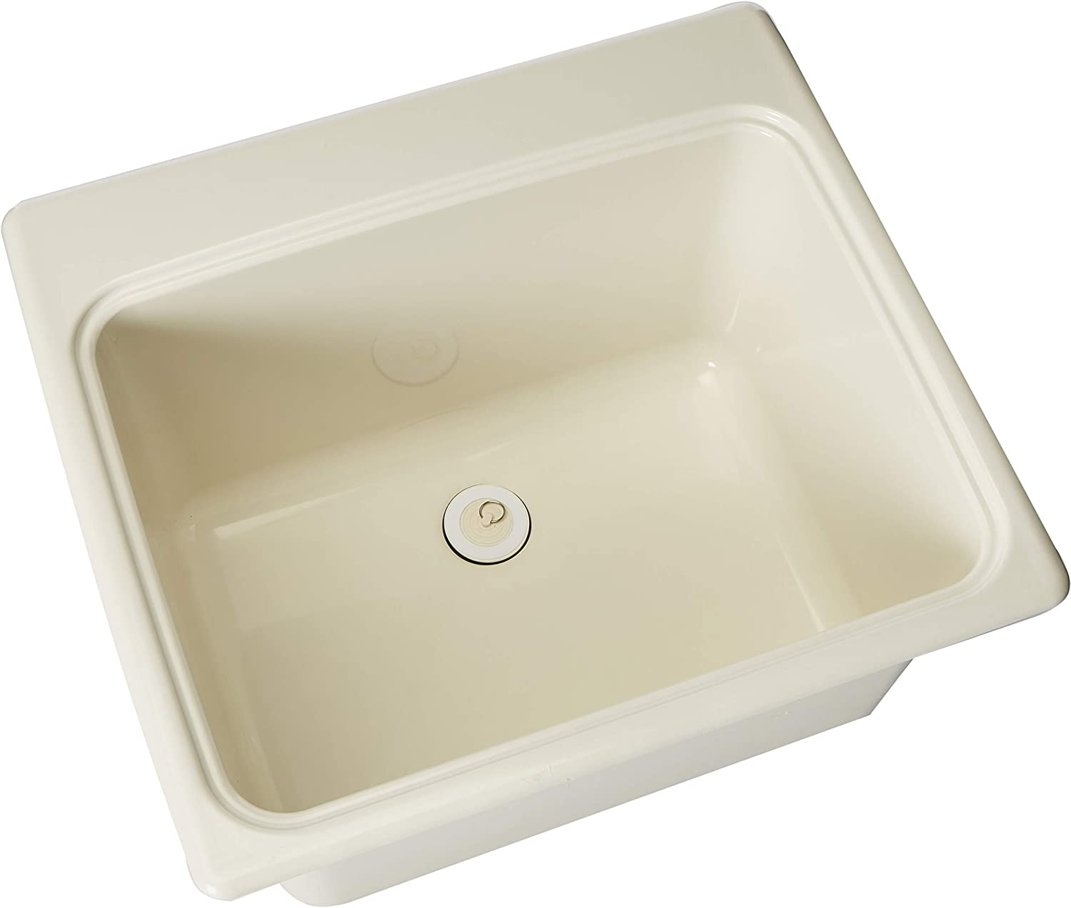 "Swan SSUS1000.018 Dual Mount Solid Surface Utility Sink-Bisque, 22"" L x 25"" H x 13.5625"" H"