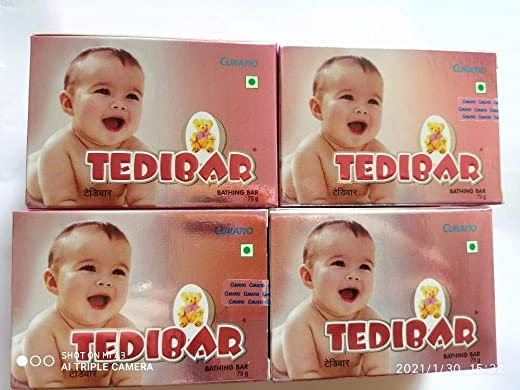 CURATIO Tedibar Soap 75g (Pack of 4)