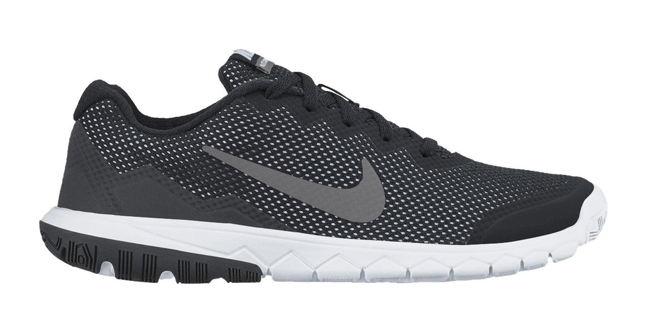 Nike Kids Flex Experience 4 (GS) Running Shoe-Black/Anthracite/White/Mtlc Dark Grey-3.5