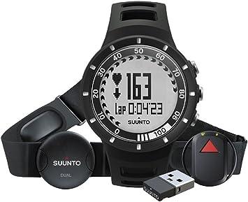 Suunto Quest GPS - Pack con Reloj, Banda Pectoral con pulsómetro, GPS Pod y Mini movestick, Color Negro: Amazon.es: Deportes y aire libre