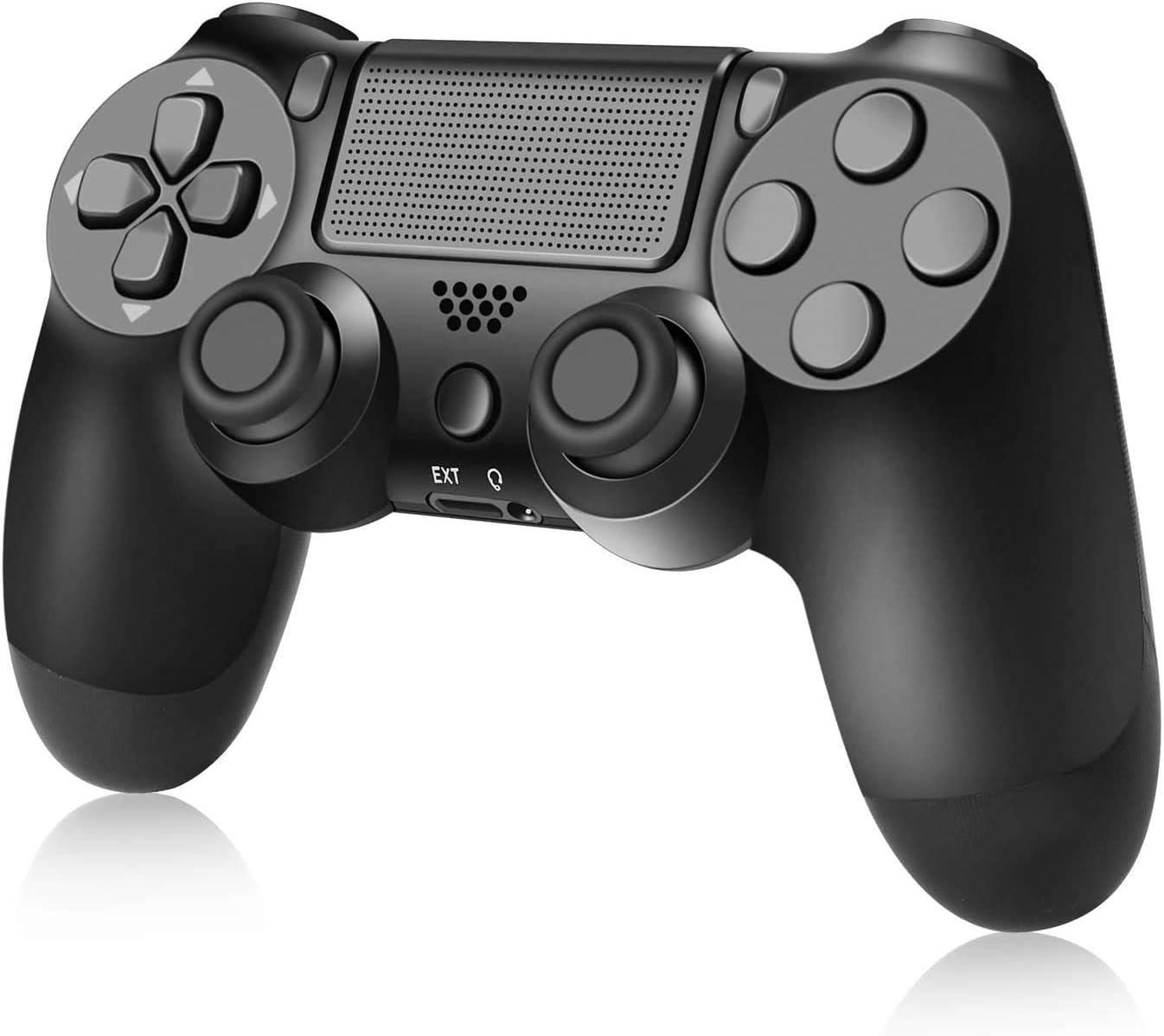 Mando para PS4, Controlador inalámbrico para PS4 / Pro/Slim/PC, Gamepad de Panel táctil con función de Audio y vibración Dual, Textura Antideslizante, Gyro de 6 Ejes y Conector de Audio