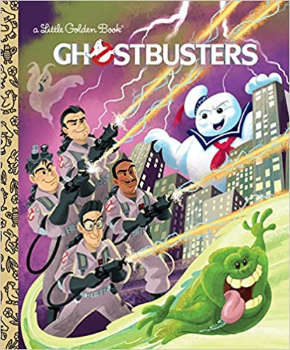a little golden book cover the Ghostbusters
