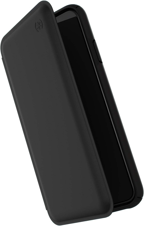Speck Products Presidio Folio Leather iPhone Xs Max Case, Black/Black