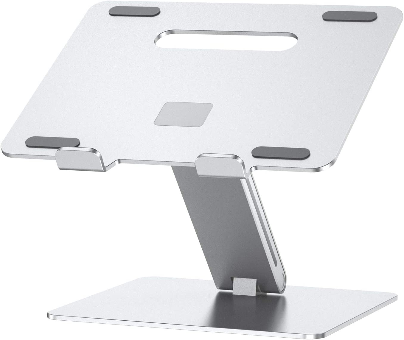 "Jubor Laptop Stand, Ergonomic Computer Stand Aluminum Laptop Mount, Foldable Laptop Riser Notebook Holder Stand Compatible with MacBook Air Pro, Dell XPS, Lenovo More 10-17.3"" Laptops"