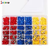 SOLOOP 480Pcs 12 Size Assortment Insulated Crimp Terminal Electrical Wiring Wire Connectors Kit