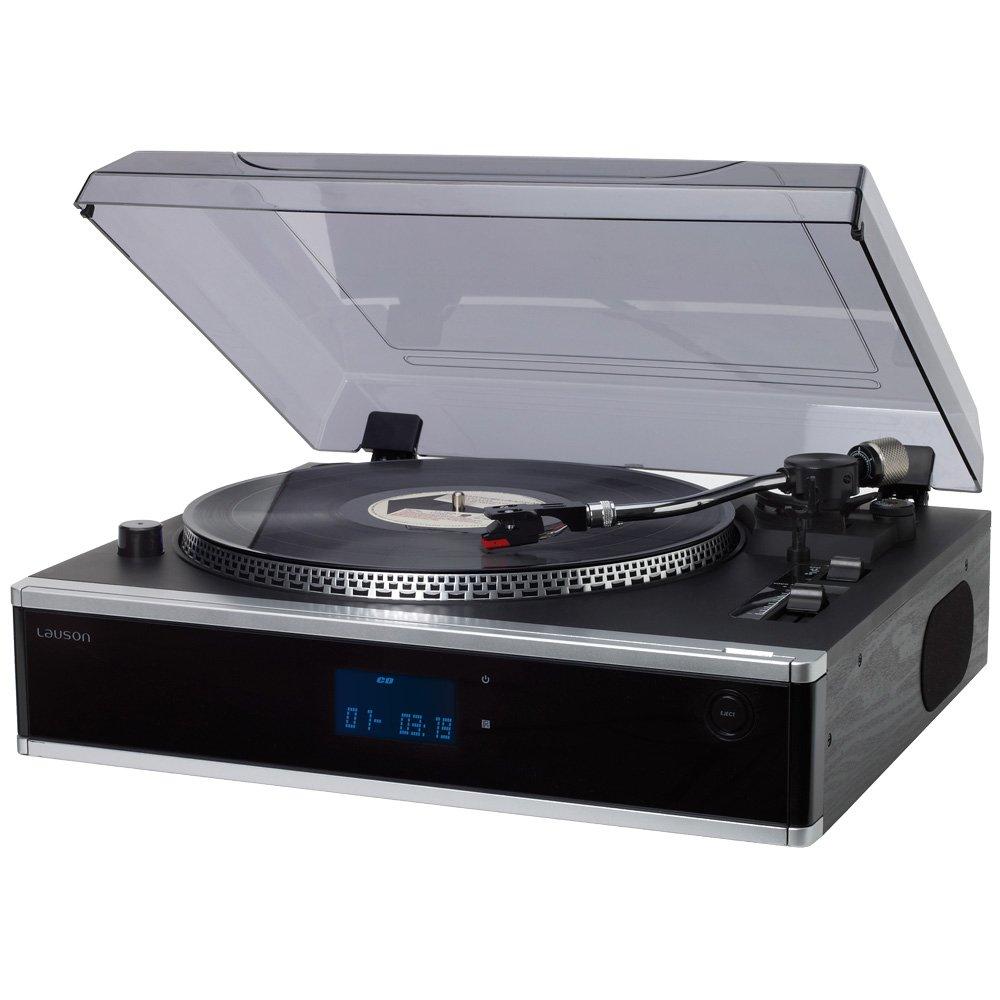 Lauson CL136 - Tocadiscos profesional (función pitch, CD/MP3, giradiscos con función Encoding, USB, radio FM, vinilos)