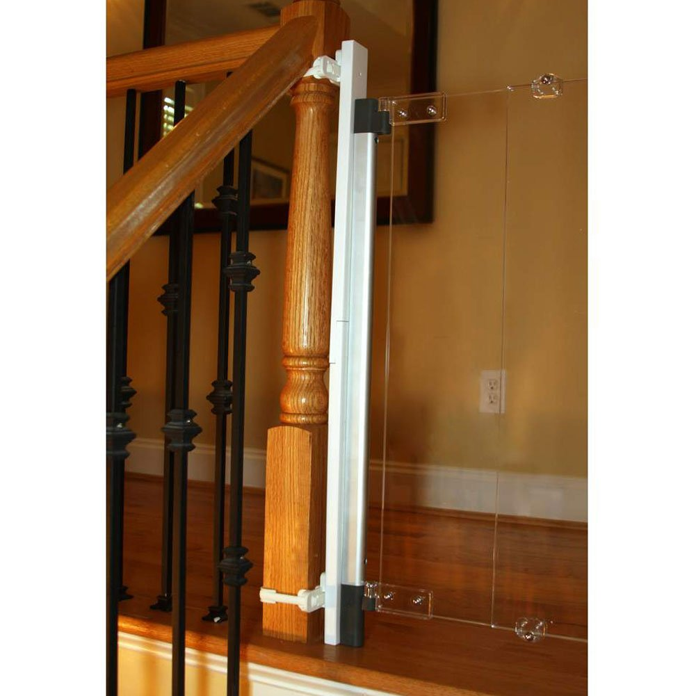 Fred Safety Universal Stair Post Fitting Kit, Dark Grey, Fit Any Stair Gate Against Stair Posts, Newel Posts and Balusters Regal Lager 17-21004