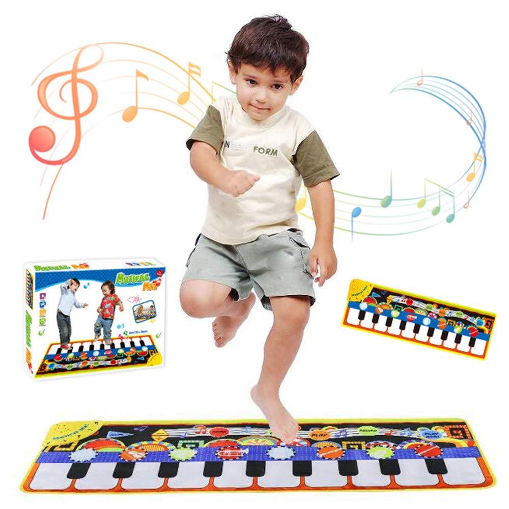 Tappeto Tastiera Musicale Bambini Tappetino Per PianoforteTappeto Playmat Musicale Da Pavimento Tastiera Danza Stuoia Strumento Musicale (110 * 36cm) etya