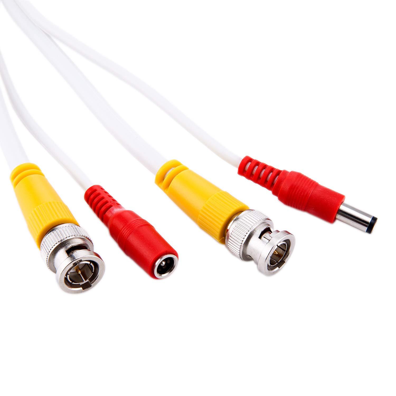 Nueva CCTV Cable 50 ft todo en uno RG59 siameses Cable Coaxial para 1080p/720p, TVI, CVI, AHD CCTV HD-SDI cámara instalación: Amazon.es: Electrónica