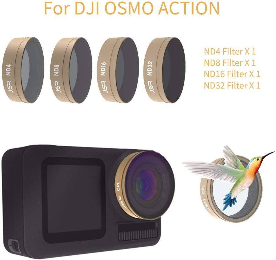 CPL//ND//PL//Star//UV Lens Filters CPL+ND8+ND16 Anti-Reflection Light Vkarh Camera Lens Filters for DJI OSMO Action Clearer Picture Videography