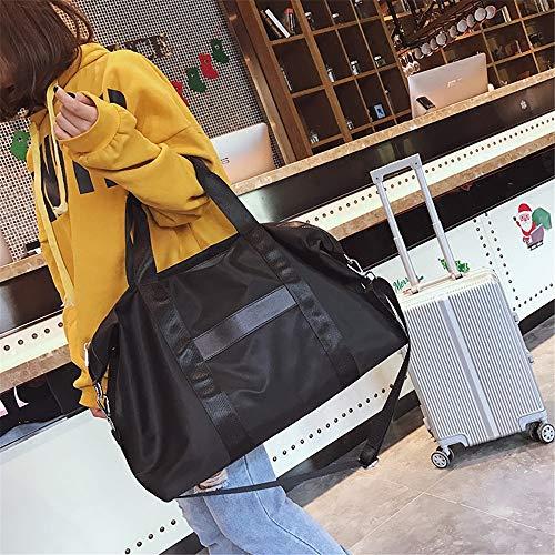 coréen diagonale Grand portable de paquet Noir à afflux sac sac grande capacité nouvel élégante des sau étudiants Voyage LANDONA main axFfFn