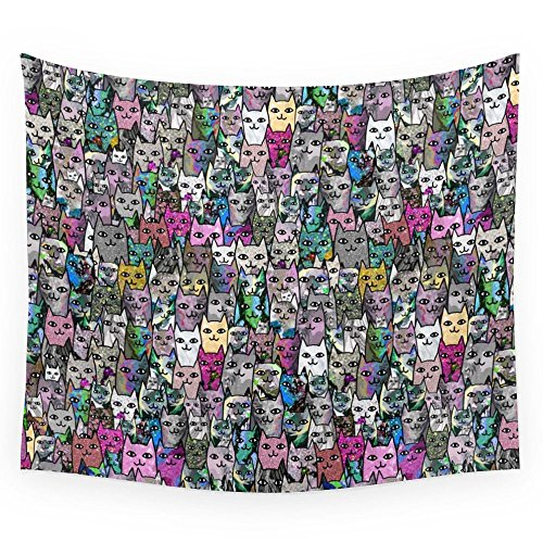 Society6 Gemstone Cats CYMK Wall Tapestry Large: 88