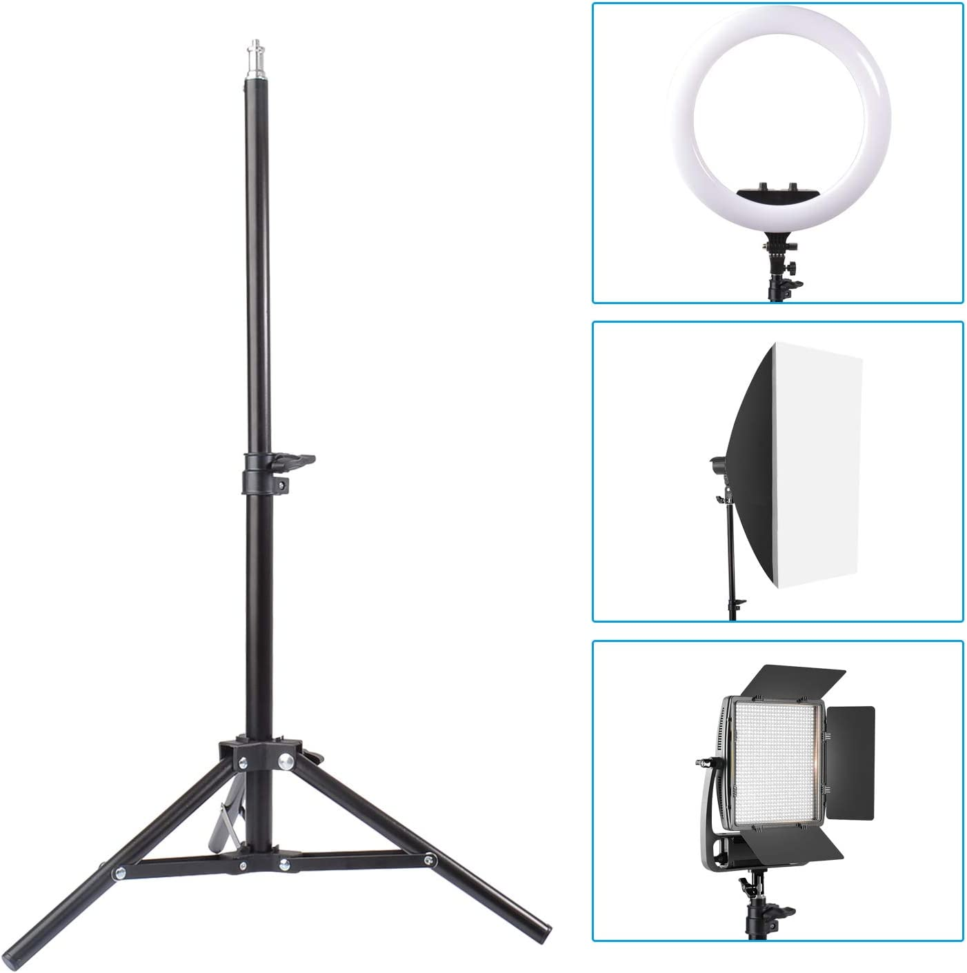 Table Top Light Stand Webcam Backgrounds Camera Camcorder Projector Softboxes Reflectors 2 Packs Riqiorod Mini Aluminum Photography Tripod with 32//80cm Max Height for Ring Light Umbrellas