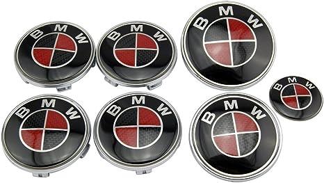 BMW NOIR ET ARGENT roue de centre Cap Badge 68 mm