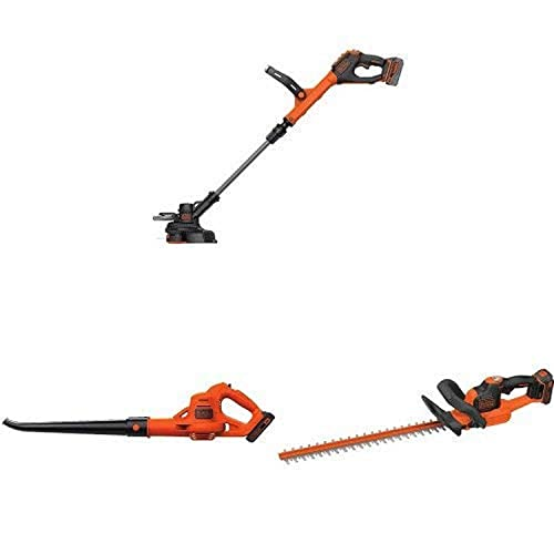 BLACK DECKER LSTE523 20V MAX Lithium POWERCOMMAND Easy Feed String Trimmer Edger and'sweeper hedge trimmer