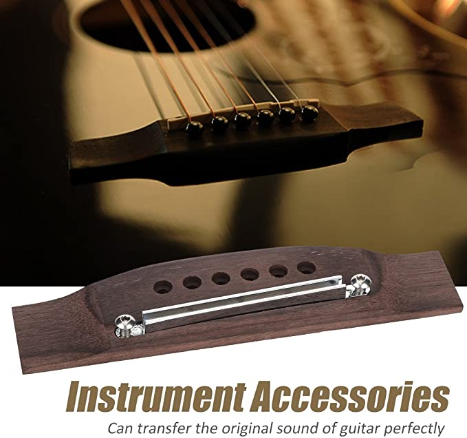 Gitarren verstellbarer Stegsattel und Schlitzmutter für Akustikgitarre