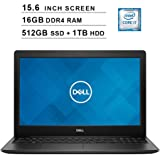 2019 Newest Dell Inspiron 15 3583 15.6 Inch HD Laptop (8th Gen Inter 4-Core i7-8565U up to 4.6GHz, 16GB DDR4 RAM, 512GB SSD (Boot) + 1TB HDD, Intel UHD Graphics 620, WiFi, Bluetooth, HDMI, Windows 10)