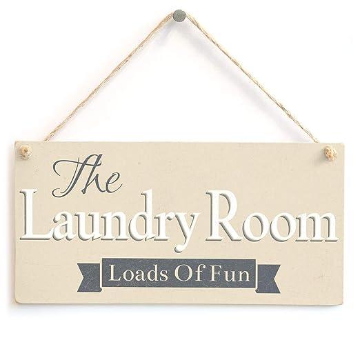 Mr.sign Laundry Room Cartel de Pared Madera Placa Madera ...
