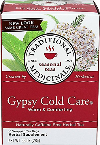 Care Gypsy Cold (Traditional Medicinals Gypsy Cold Care Herbal Tea, Caffeine Free, 16 Count)
