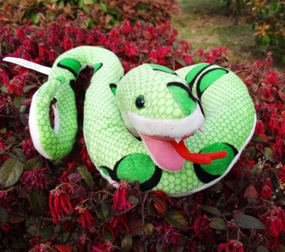 NC88 Juguete de Felpa Serpiente Verde Animal simulación muñeca 100 cm decoración del hogar Parodia Mascotas para niños niñas Regalos