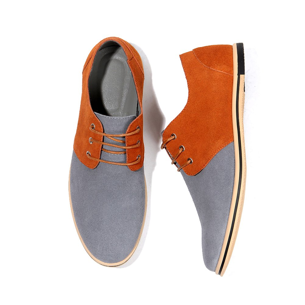 HYJ Men's Classic Suede Leather Oxford Casual Dress Shoes Business Casual Oxford Shoes 9.5 D(M) US Grey B07H85NY2Y c8a052