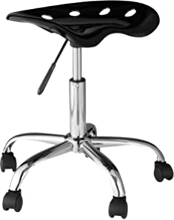 OneSpace Computer Task Chair With Tractor Seat, Black