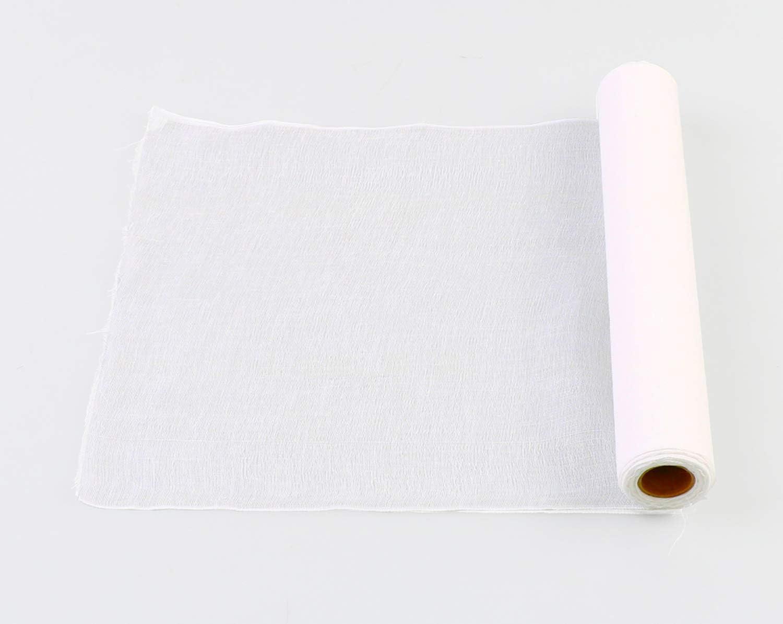 r/éutilisable 100 /% coton /écru cuisson 32 pieds carr/és, 3,6 yards Rouleau de gaze pour /égoutter sac de lait de noix coupe selon vos besoins: grade 50