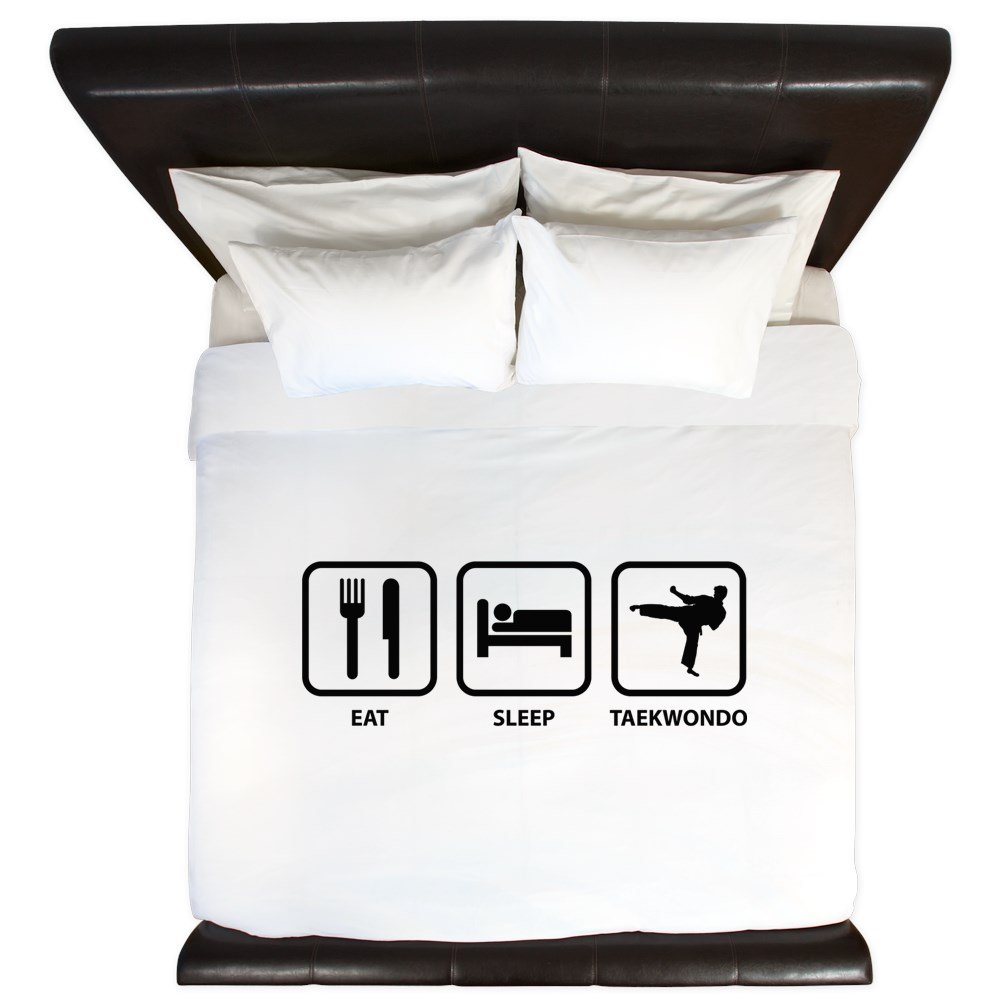 CafePress - Eat Sleep Taekwondo - King Duvet Cover, Printed Comforter Cover, Unique Bedding, Microfiber by CafePress