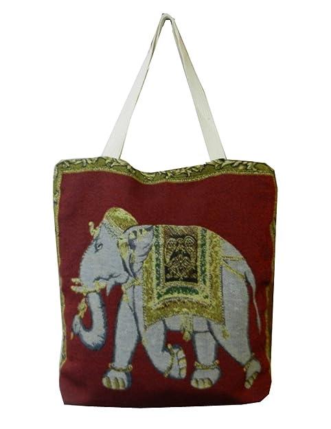 07193eafb0e BTP! Ethnic Thai Elephant Tote Beach Bag Simplicity Handbag Canvas Cotton  Purse - More Design