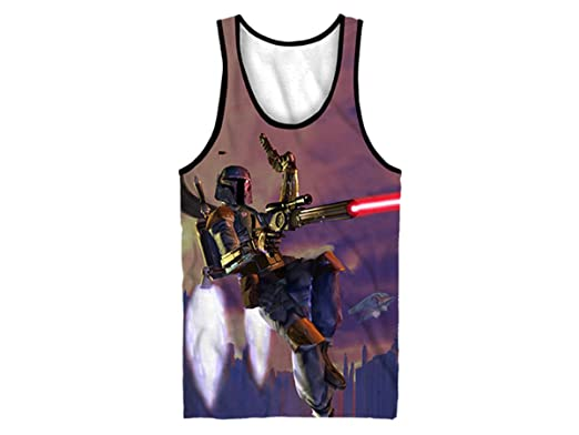 a62bb9e214980 Amazon.com  Star Wars Boba Fett Men s Sublimated Tank Top  Clothing