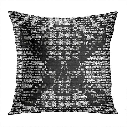 Lichtion Throw Pillow Cover Print Skull Crossed Bones Danger Piracy Sign Decorative Soft Bedroom Sofa Living Room Car Pillowcase Cushion Couch 20 x 20 Inch (Best Antivirus For Pirates)