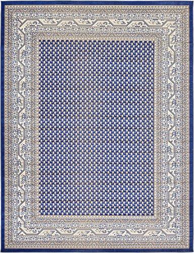 (Unique Loom Williamsburg Collection Traditional Border Blue Area Rug (9' 0 x 12' 0))