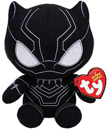 Amazon.com  TY Beanie Baby Plush - Black Panther (Marvel) - Blue ... 5a9d0474f3a