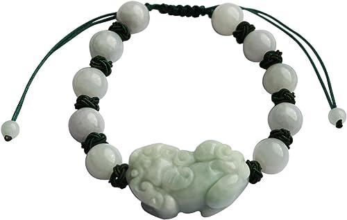 Certified 100/% Natural A Jade jadeite pendant~ Bead Bracelet (One price)