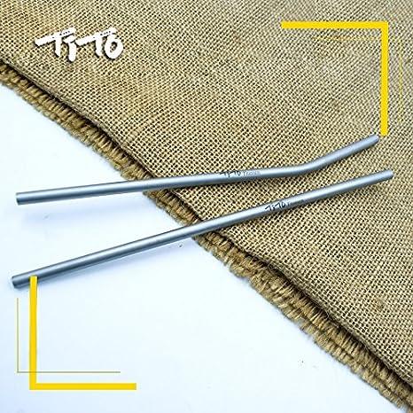 TiTo Paille color/ée en titane solide et ultra-l/ég/ère avec brosse de nettoyage Diam/ètre 7 mm x 0,4 mm