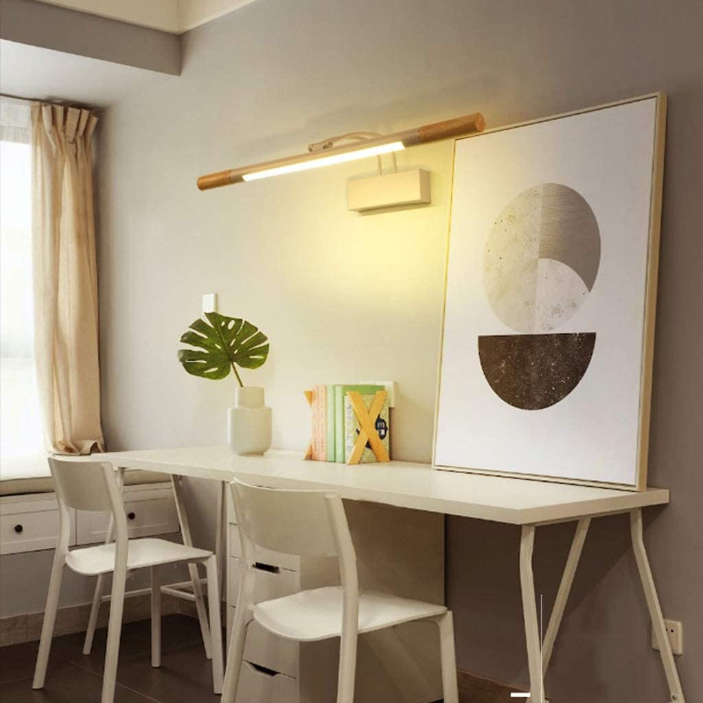 *badezimmerlampe Spiegel Frontleuchte LED, einfache europäische Badezimmer Schminktisch Spiegel Kabinett Licht Schlafzimmer Wandlampe (Farbe : B-Weißes Licht) A-weißes Licht