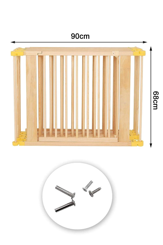 Holz Laufstall für Babys Kleinkinder H 68 cm 270° klappbar 6 E M B-Ware
