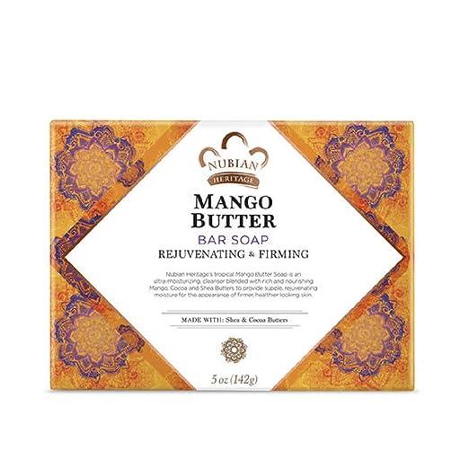 Nubian Heritage Mango Butter Soap Bar, 5 Ounces (6 Packs)