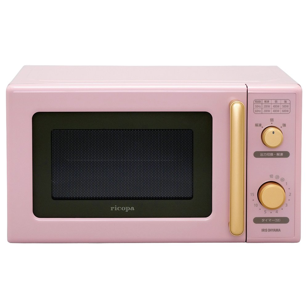 "IRIS OHYAMA Micro Wave Ovens ""ricopa"" IMB-RT17-PA (Ash Pink)【Japan Domestic genuine products】"