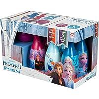 Disney Frozen 2 Birilli Bambini, Set da Bowling per Bambini con 6 Birilli e 1 Palla da Bowling, Giochi Educativi Bambina 3 Anni, Giocattoli da Interno, Regalo Bambina Ispirato al Film Frozen 2